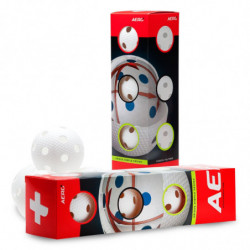 Aero plus pallina per floorball 4-pack - bianco