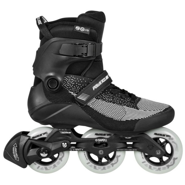 Powerslide Swell lite black 100 pattini inline fitness - Senior
